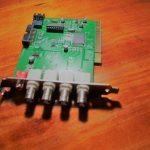 כרטיס פנימי DVR בחיבור PCI למחשב נייח 4 וידאו 1 סאונד