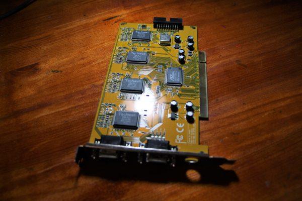 כרטיס פנימי DVR בחיבור PCI למחשב נייח 4 וידאו 4 סאונד