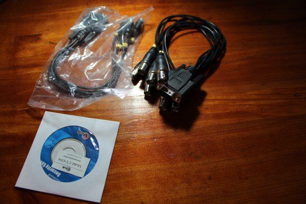 ציוד נוסף – כרטיס פנימי DVR בחיבור_PCI למחשב נייח 4 וידאו 4 סאונד