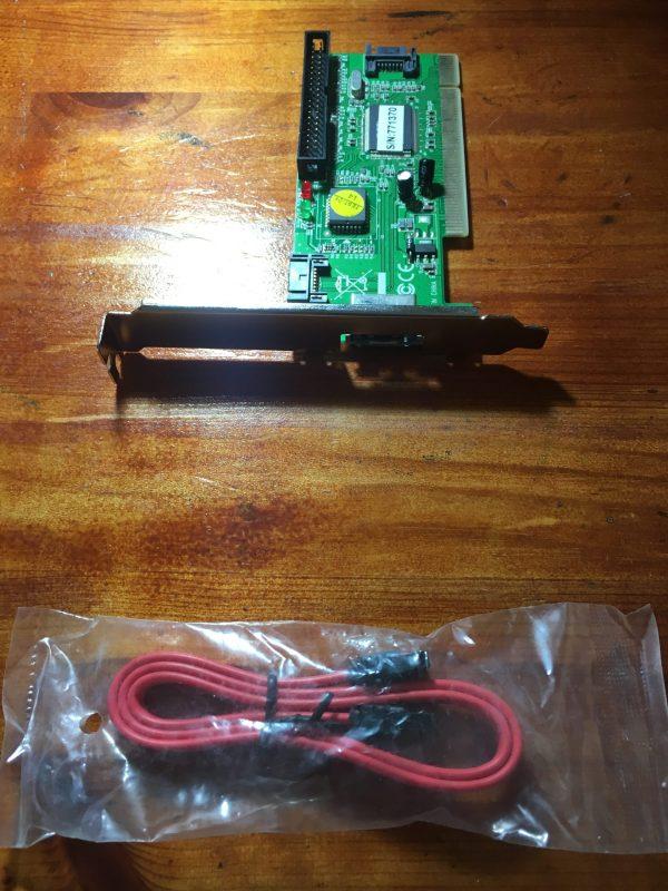 כרטיס פנימי למחשב נייח בחיבור PCI לחיבור דיסק SATA פנימי וחיצוני