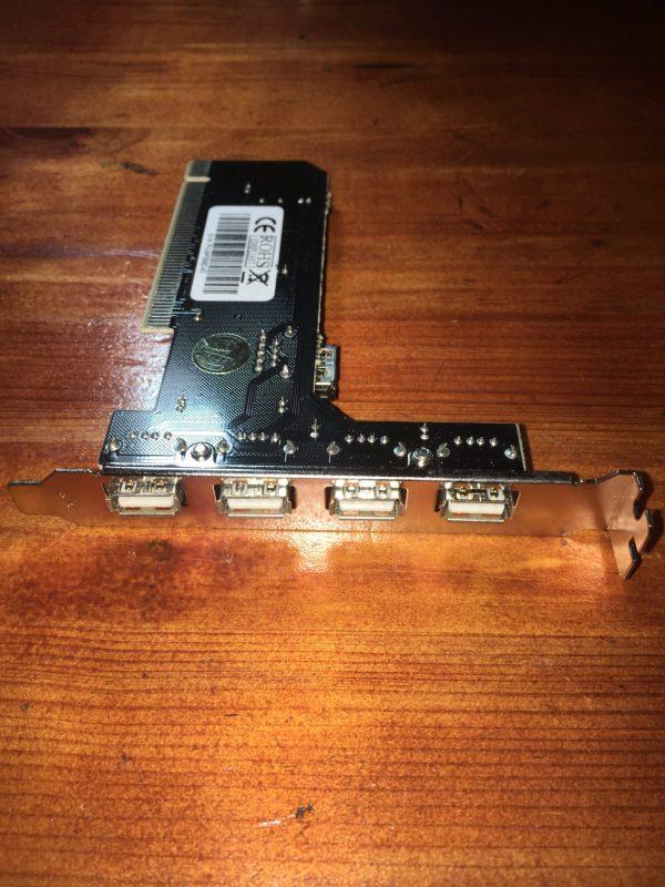 כרטיס PCI לחיבור 4 נקודות USB למחשב נייח